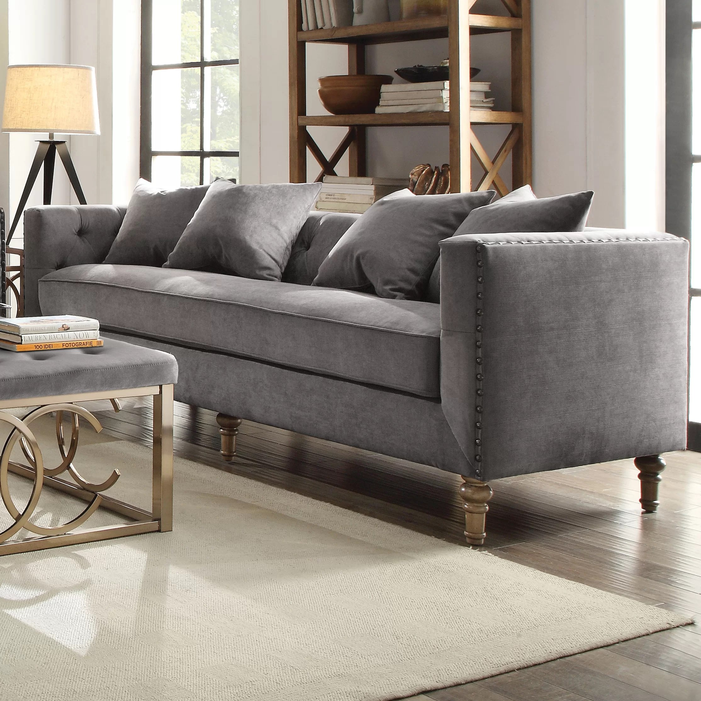Sofa In Chesterfield Look Croyd Chesterfield Sofa