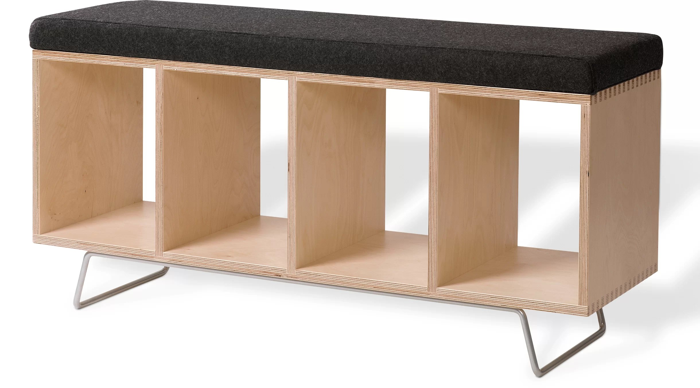 Wooden Storage Bench Birch Wooden Storage Bench