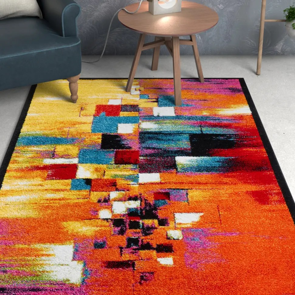 Viva Garage Floor Mats Viva Unforgettable Abstract Geometric Doormat