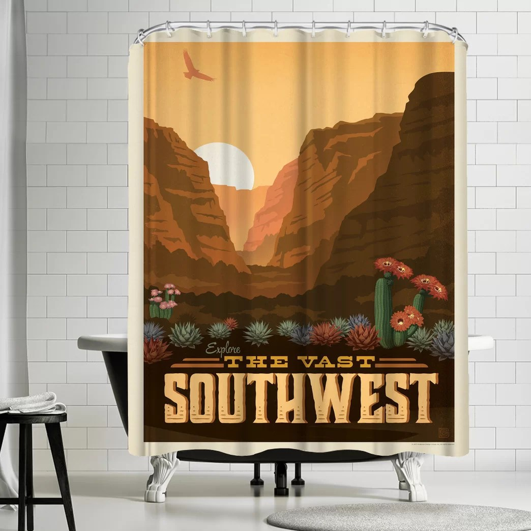 Fabric Shower Curtains Macy's Macys Southwest Single Shower Curtain