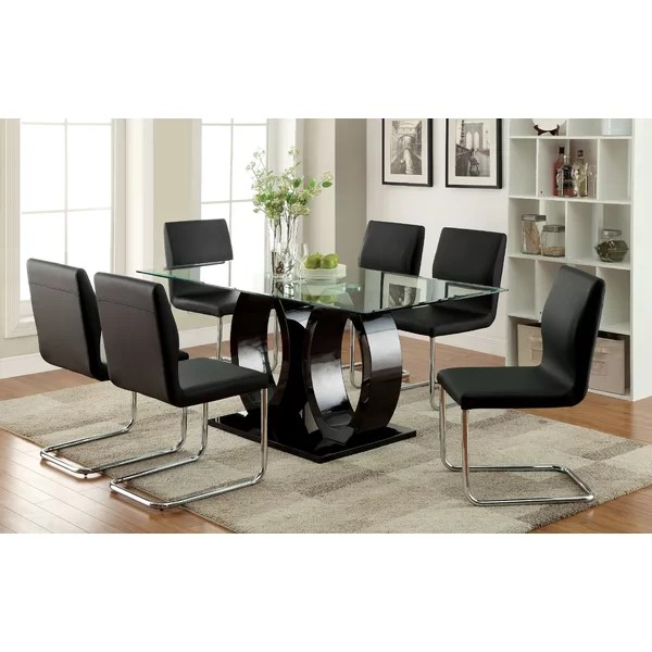 Hokku Designs Benedict 7 Piece Dining Set \ Reviews Wayfair - 7 piece living room set