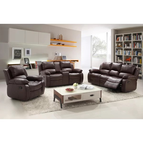 Living In Style Reno 3 Piece Living Room Set \ Reviews Wayfair - 3 piece living room furniture set