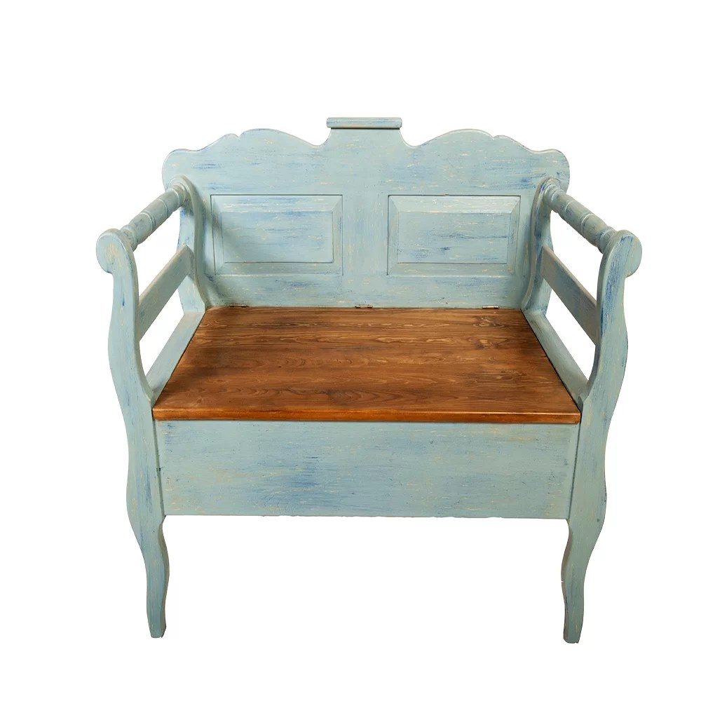Wooden Storage Bench Eglantine Wooden Storage Bench