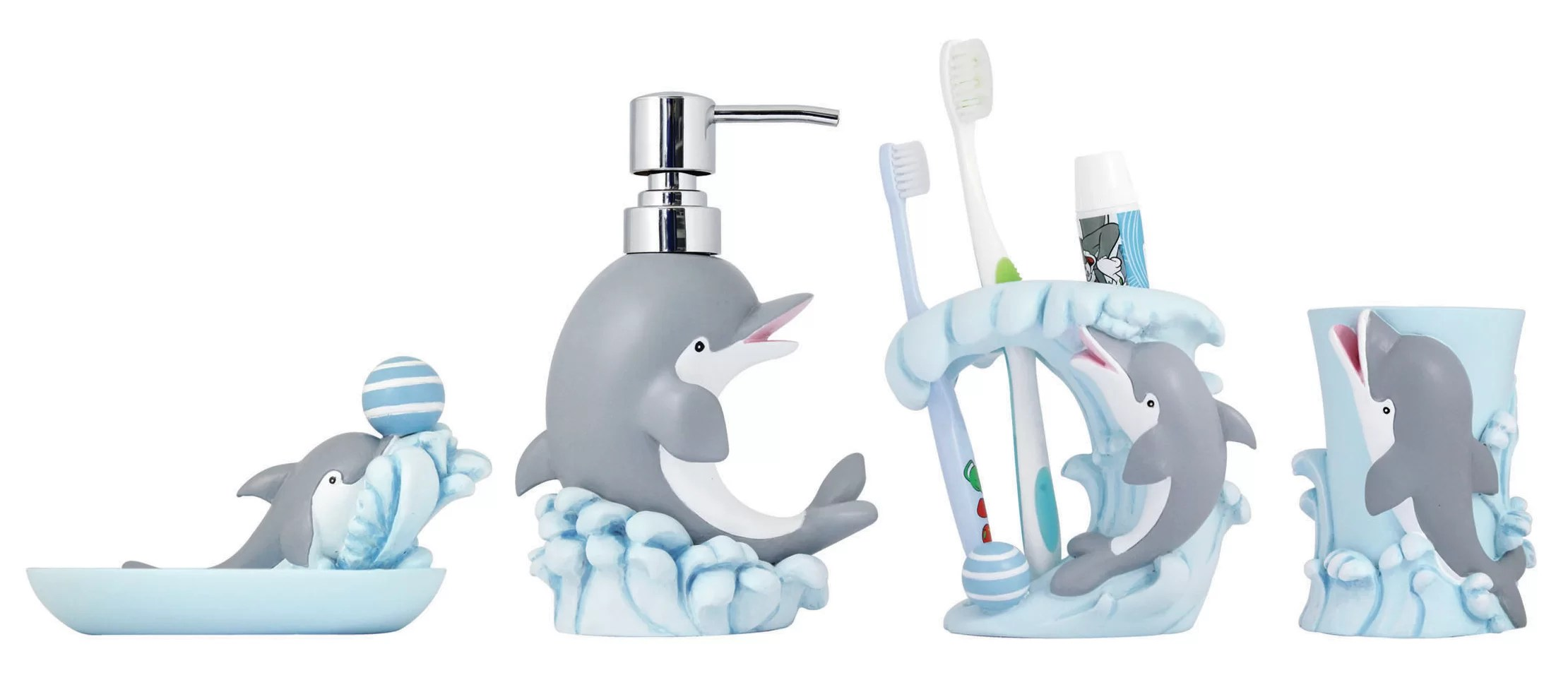 Bathroom Accessories 4 Piece Kids Bathroom Accessories Set