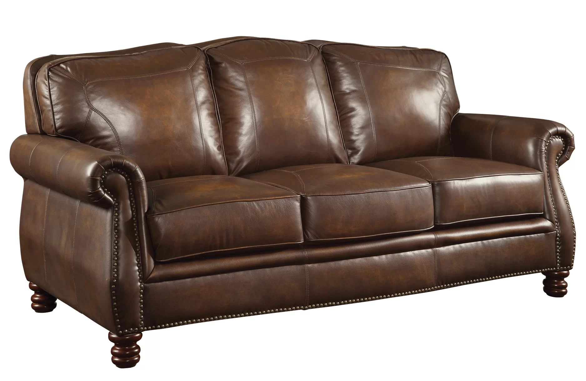 And Sofa Linglestown Leather Sofa
