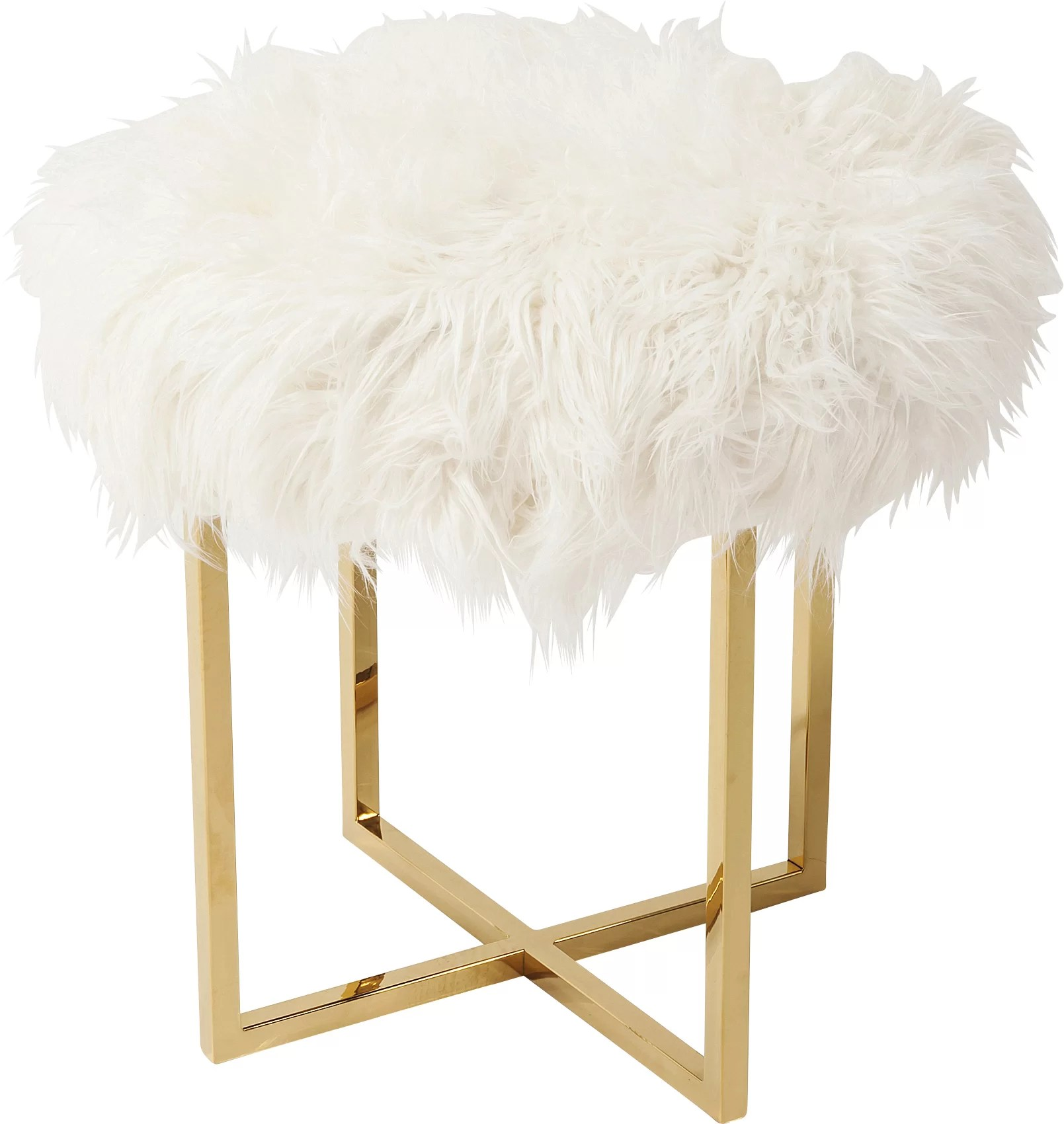 Kare Design Hocker Fell Hocker Mr Fluffy
