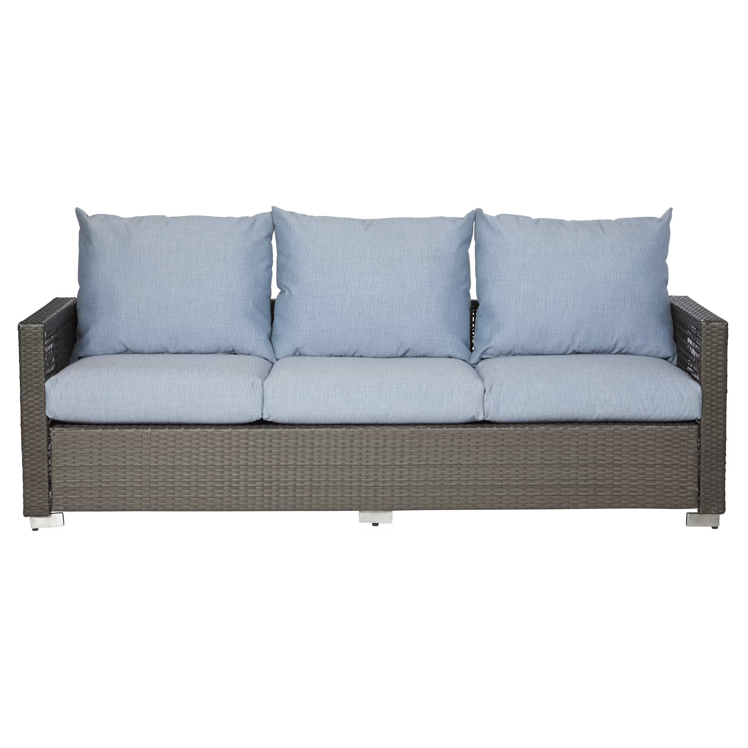 Open Weave Rattan Sofa Mid Century Lawson Sofa By Birch Lane Baci Living Room