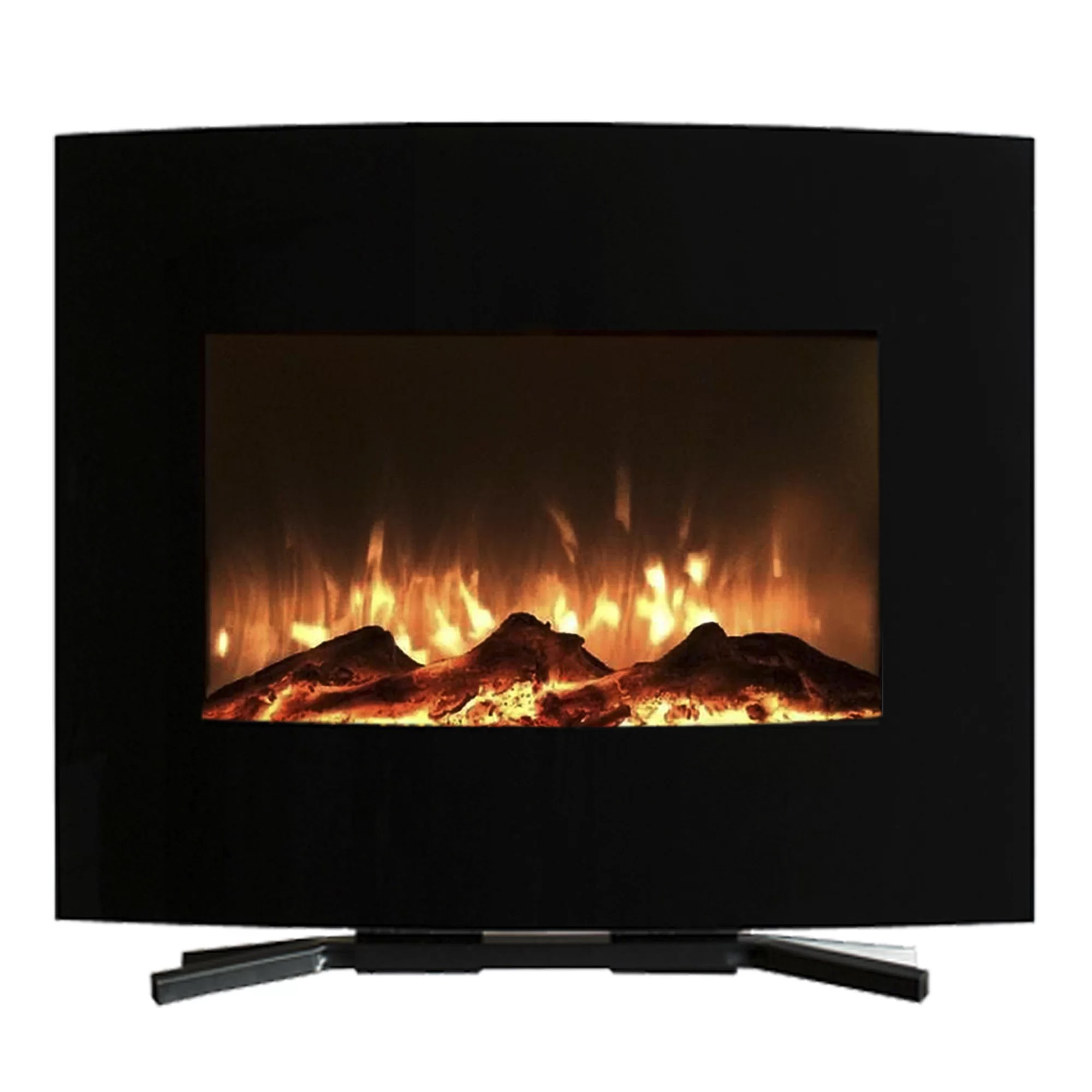 Curved Electric Fireplace Curved Wall Mounted Electric Fireplace