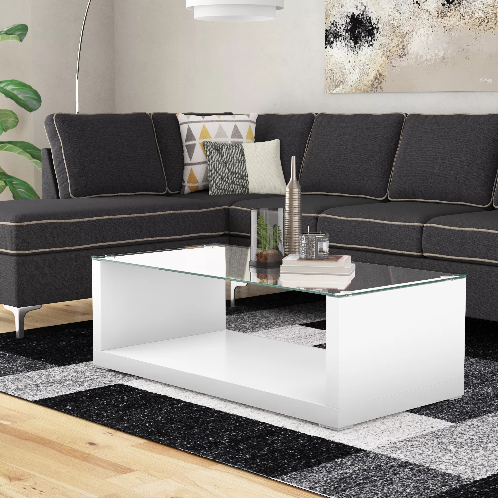 Contemporary Seating Merrill Glossy Finish Coffee Table
