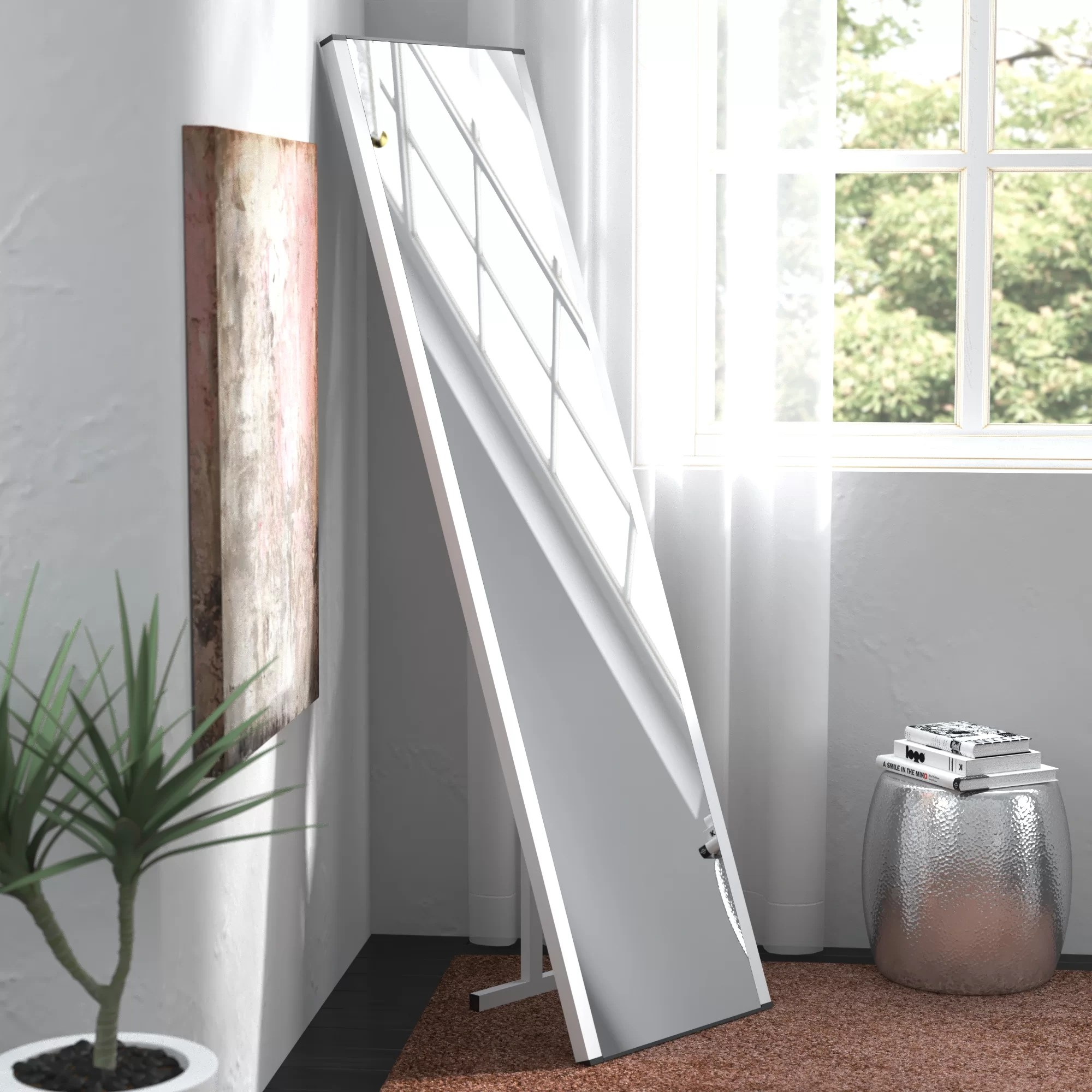 Standing Mirror Contemporary Illuminated Led Free Standing Full Length Mirror