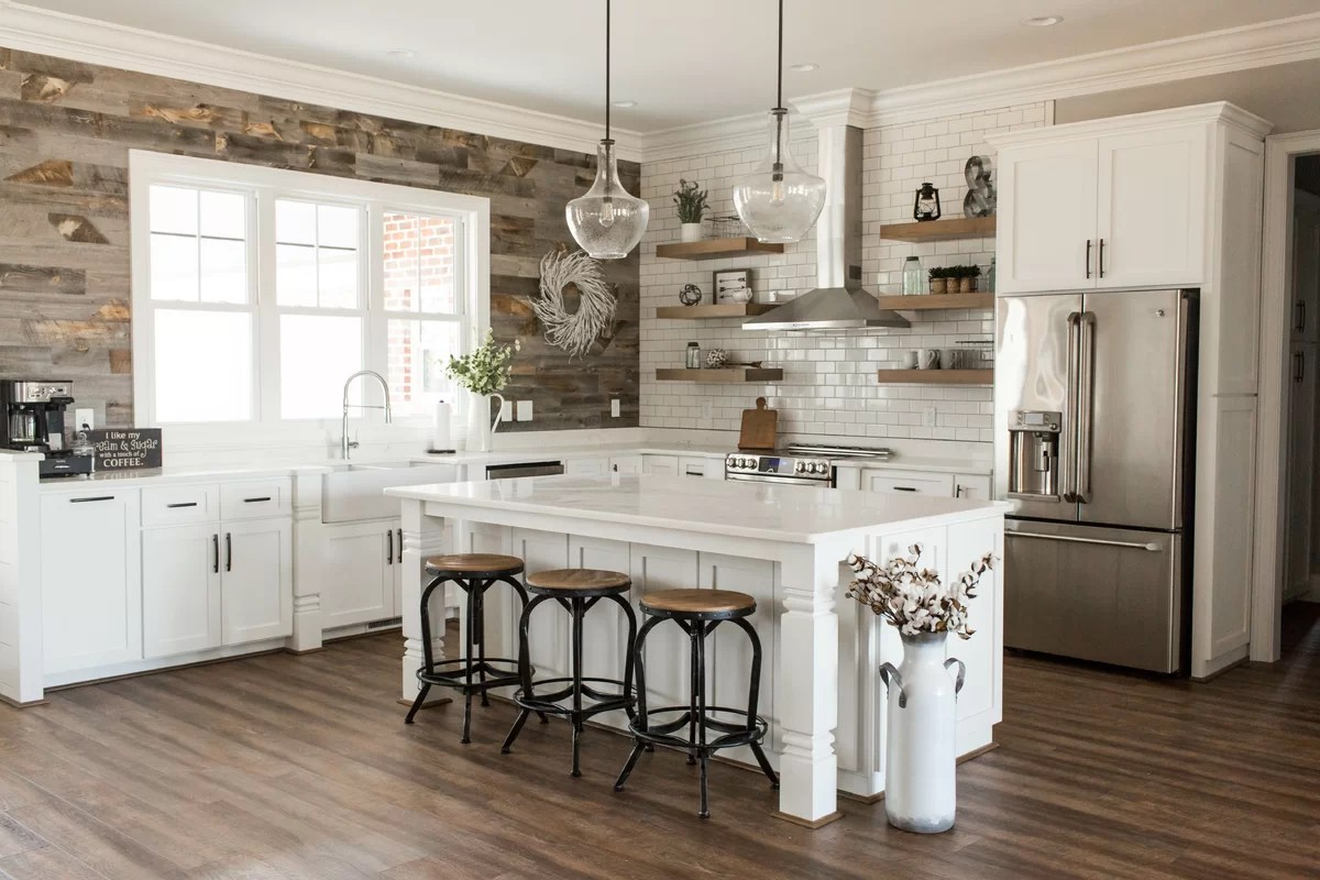 Farmhouse Coffee Shop Farmhouse Kitchen Design Photo By Wayfair