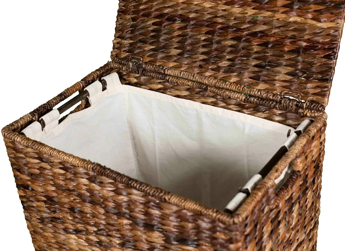 Closed Laundry Hamper Darby Home Co Abaca Wicker Laundry Hamper And Reviews Wayfair