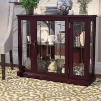 Darby Home Co Purvoche Lighted Console Curio Cabinet ...