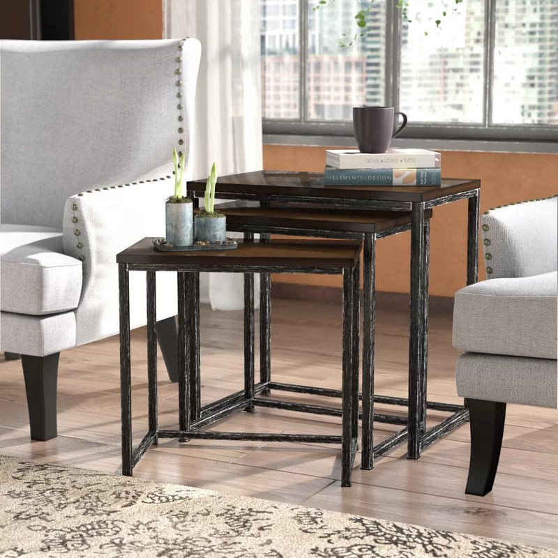 Trent Austin Design Wheeler 3 Piece Nesting Tables  Reviews Wayfair