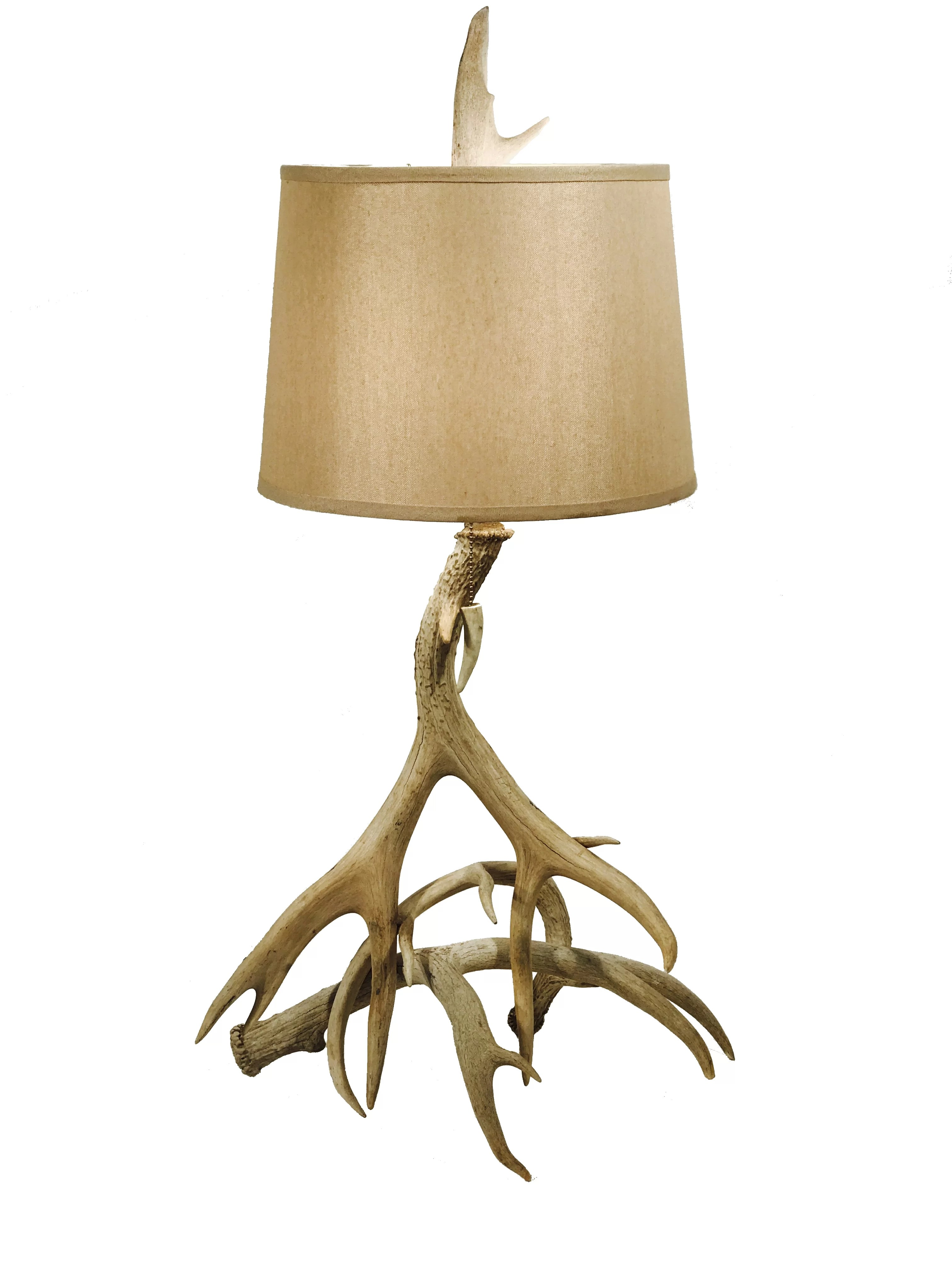 Table Lamp Base Alessandra Mule Deer Antler 3 Horn 25