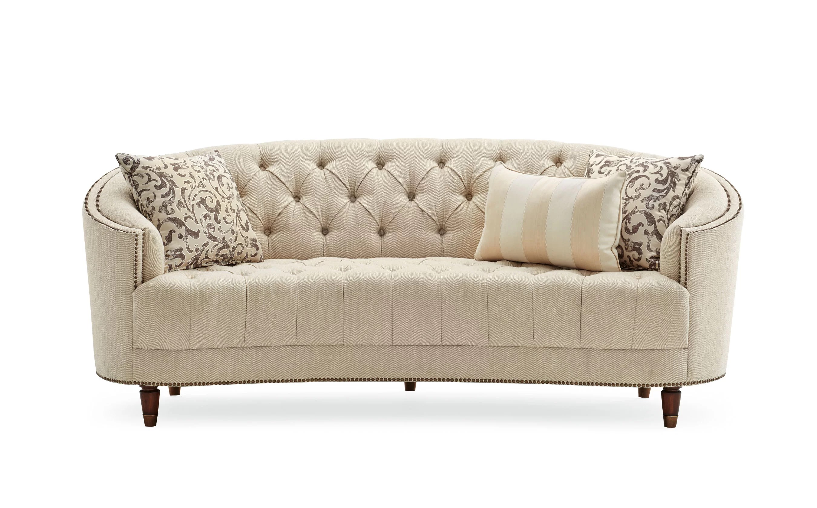 Curved Sofa Frederic Tufted Curved Sofa