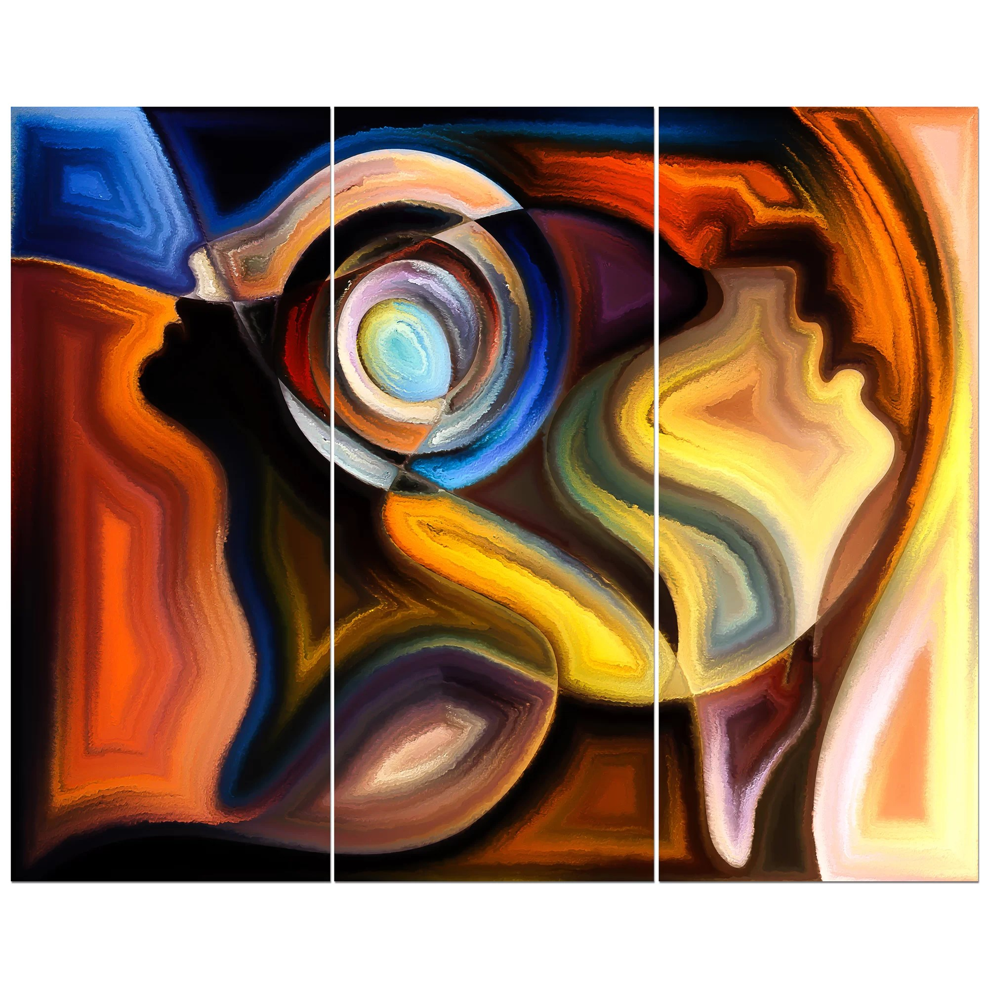 Abstract Art Prints On Canvas Abstract Human Artwork Graphic Art Print Multi Piece Image On Wrapped Canvas