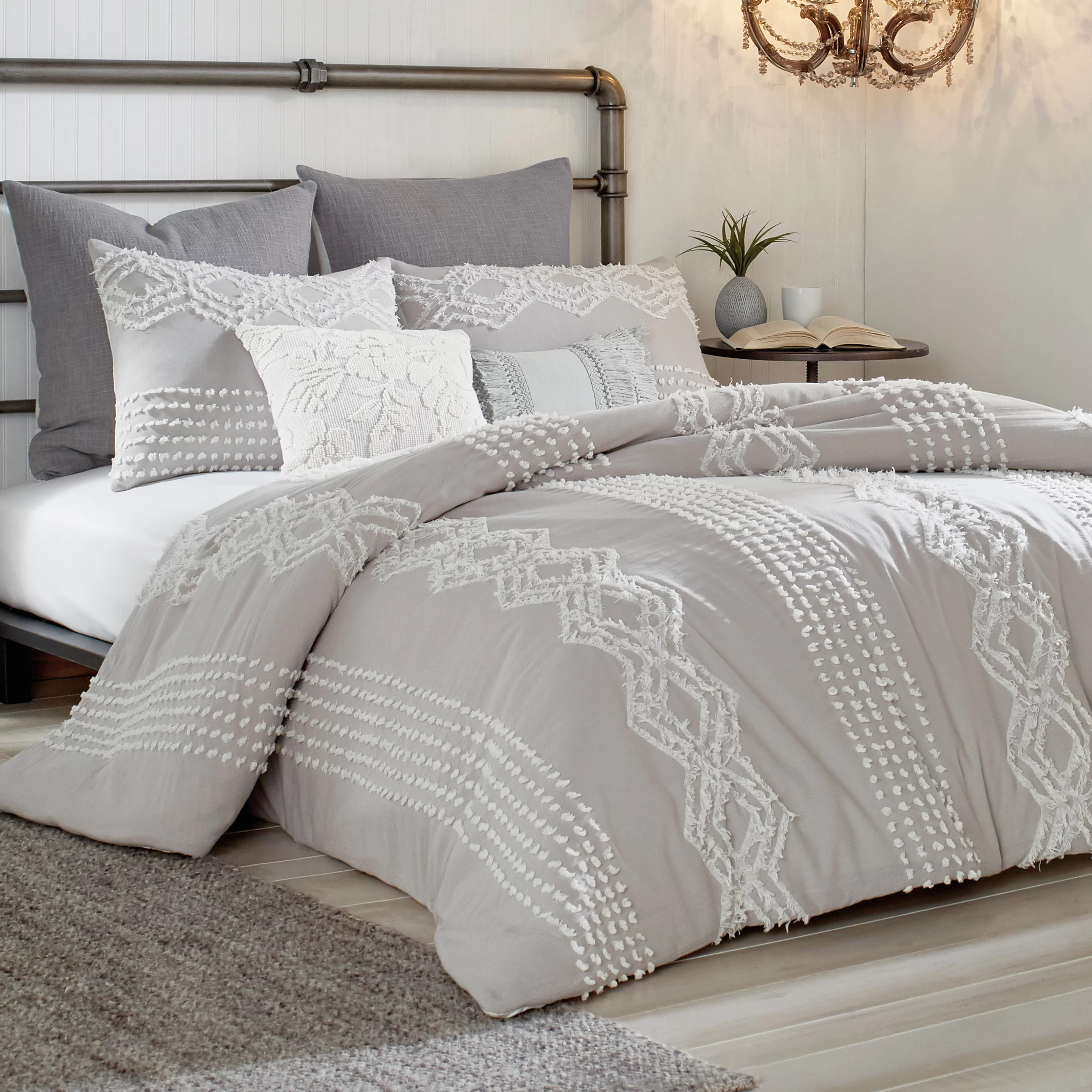 Duvet And Comforter Sets Lyerly Cut Geo Comforter Set