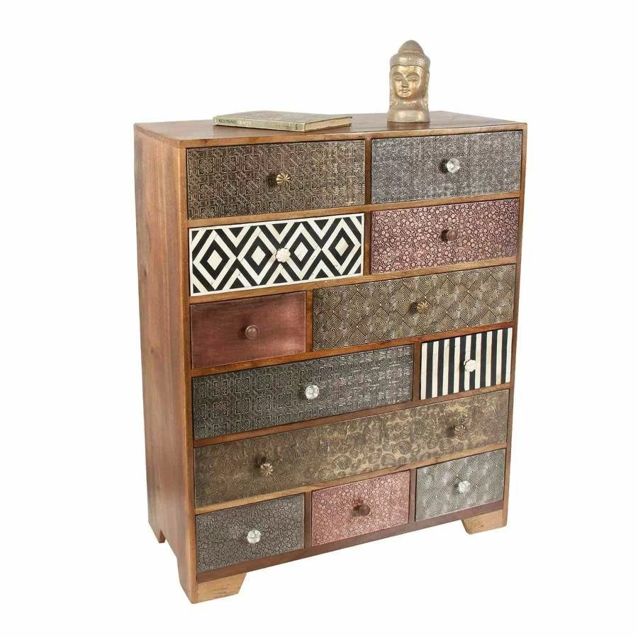12 Drawer Chest Of Drawers Erita 12 Drawer Accent Chest