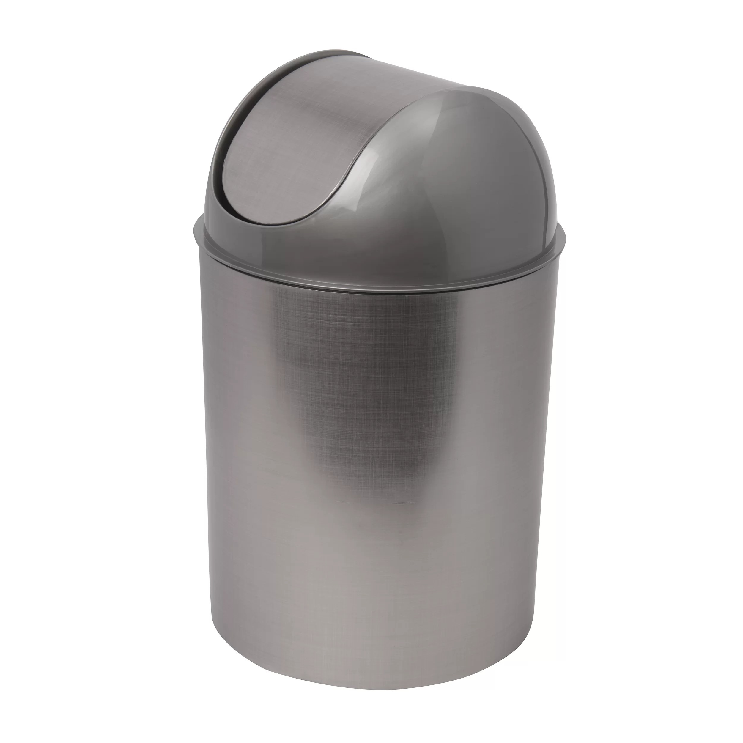 Small White Trash Can With Lid Mezzo Plastic 2 5 Gallon Swing Top Trash Can