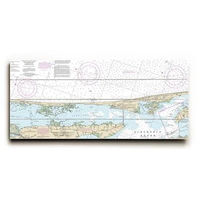 Longshore Tides Vintage Map Wheel\u0027 Graphic Art Print Wayfair