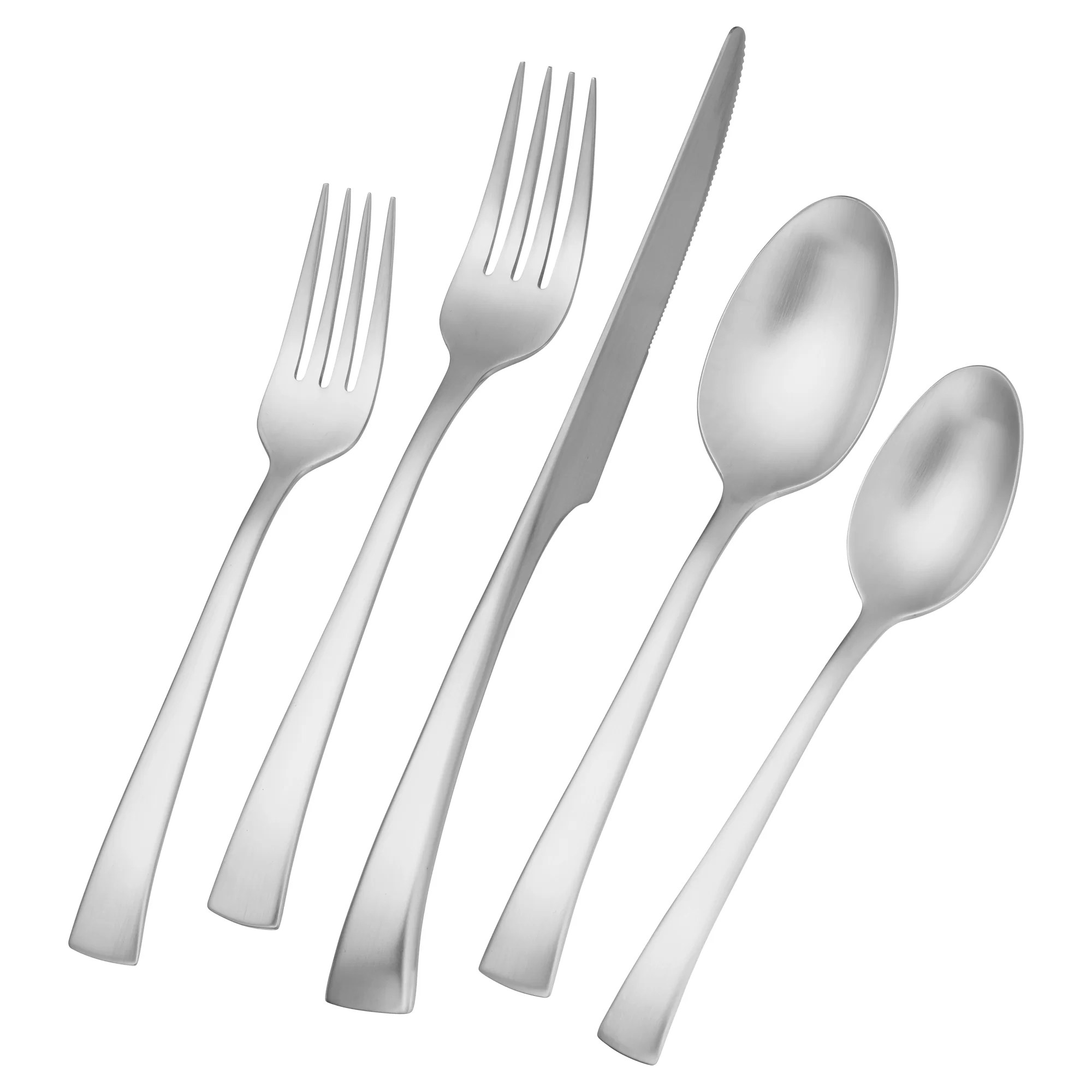 Discount Stainless Flatware Bellasera 45 Piece 18 10 Stainless Steel Flatware Set Service For 8
