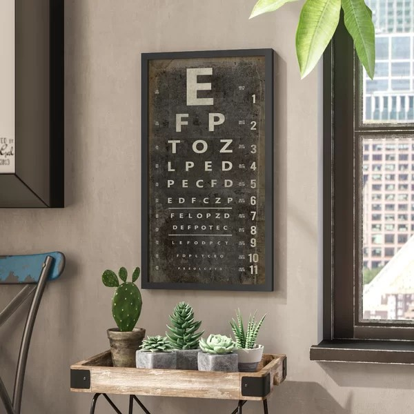 Eye Chart Wall Art Wayfair