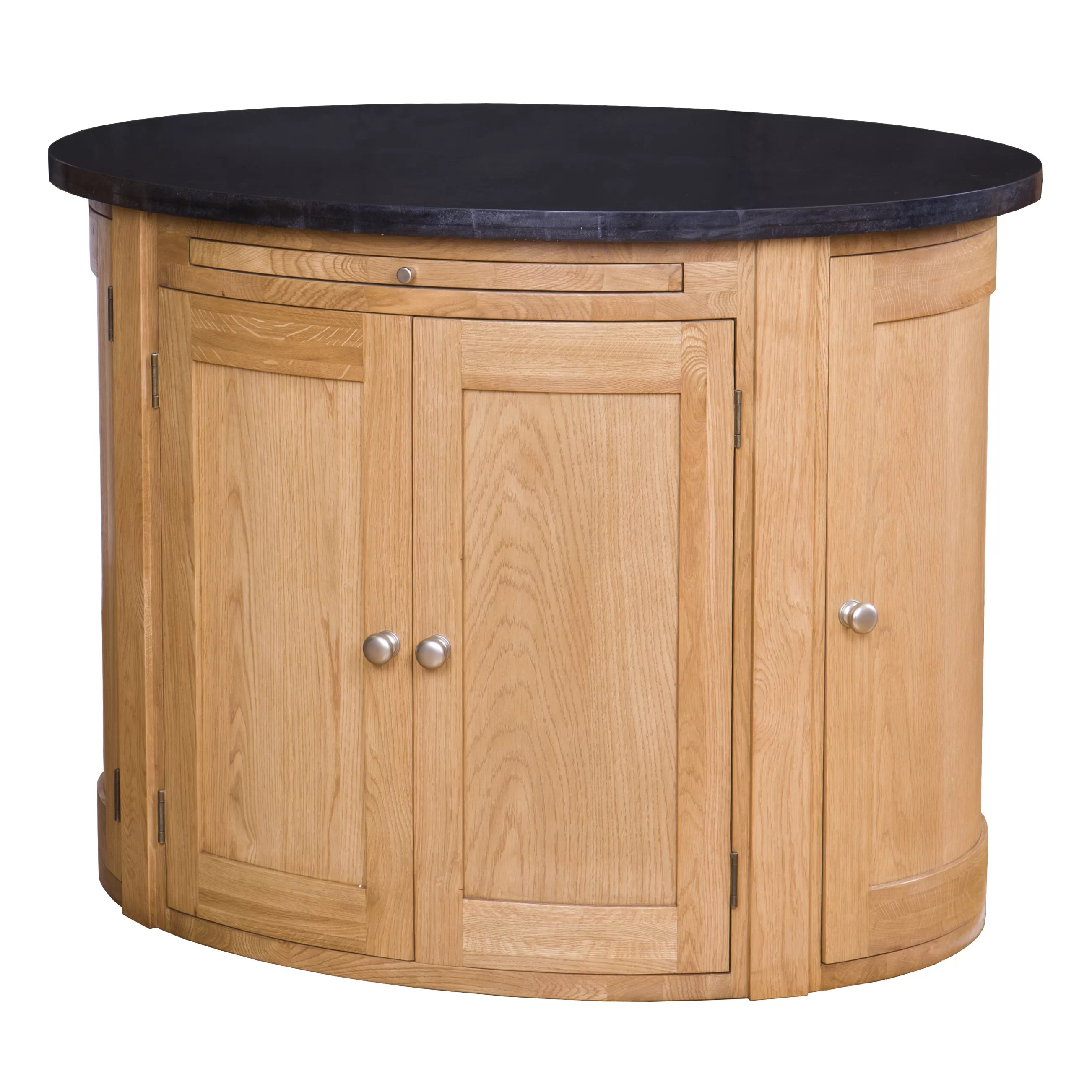 Kücheninsel Oval Creamer Kitchen Island With Granite Top