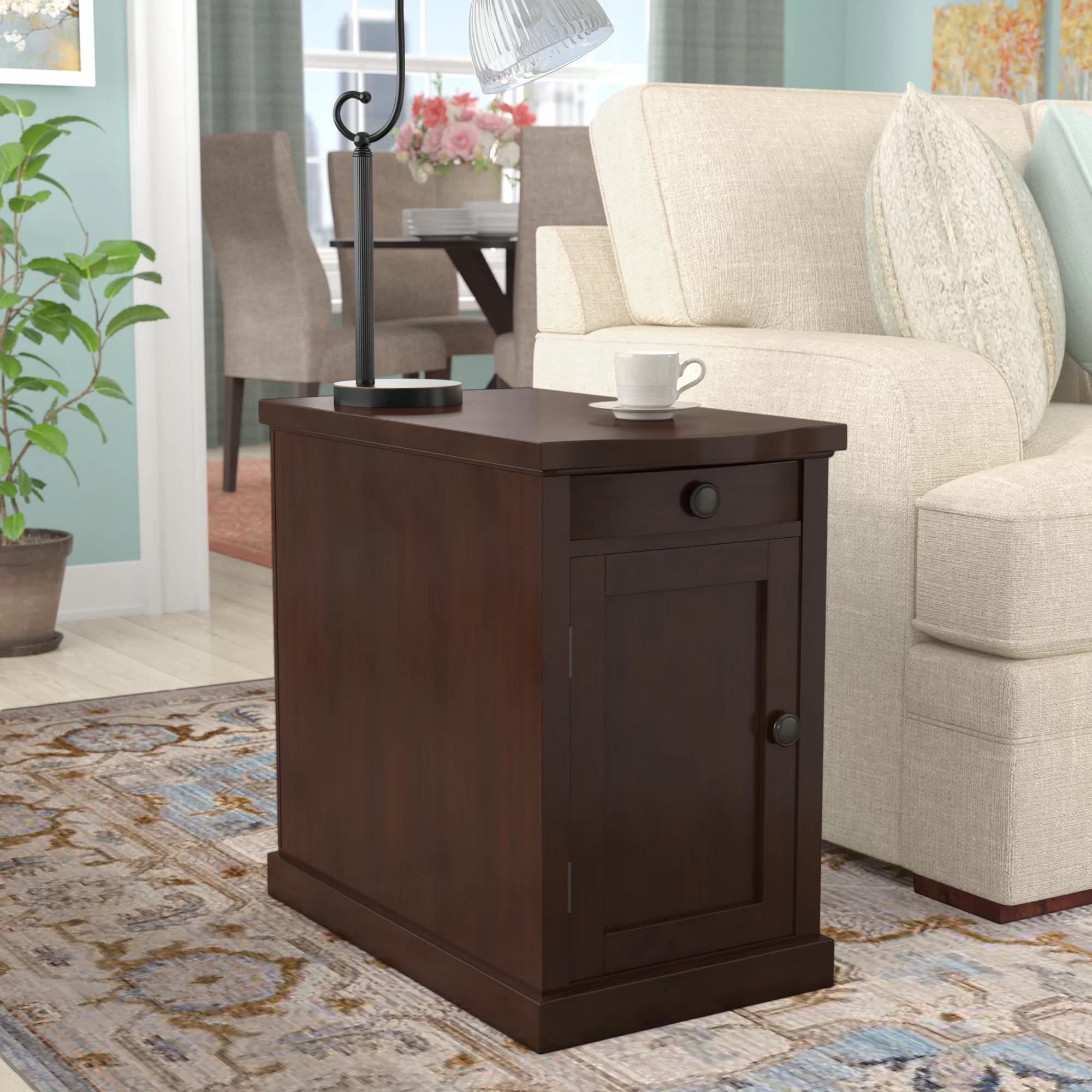 Coffee And End Tables With Storage Ferranti End Table With Storage