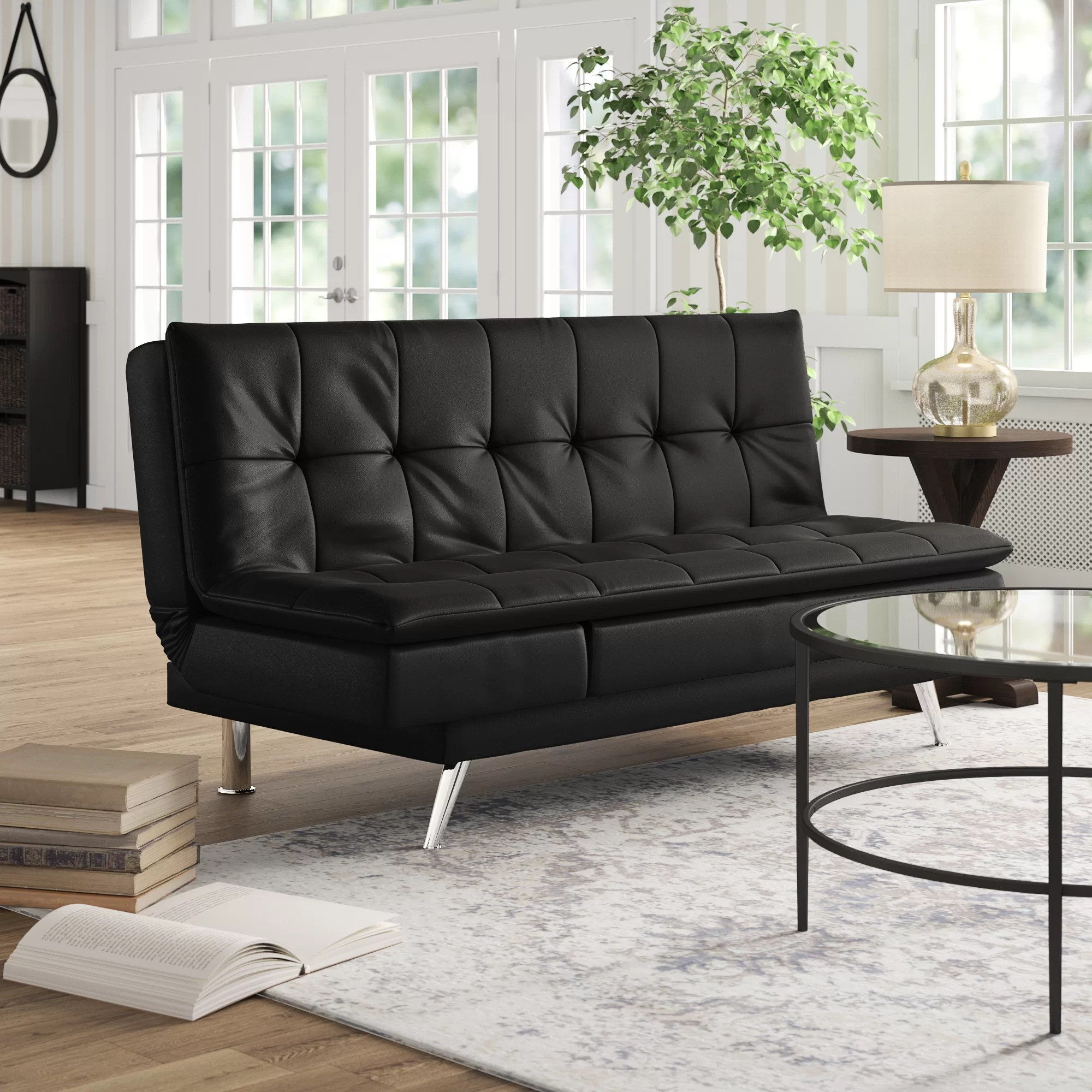 Cheap Black Leather Sofas | Bronx Black Leather Sofa Bed By Empire ...