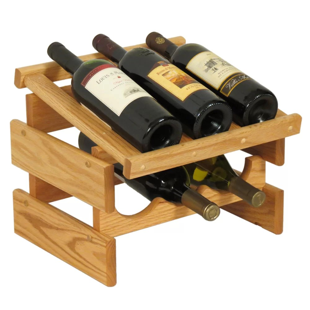 Wooden Bottle Rack Dakota 6 Bottle Tabletop Wine Rack