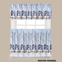 Winter Birds 58 Window Valance | Fashion Design Style