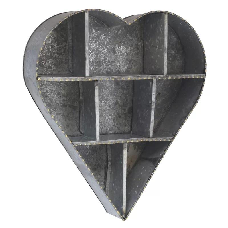 Stonebriar Heart Galvanized Metal Wall Shelf Reviews