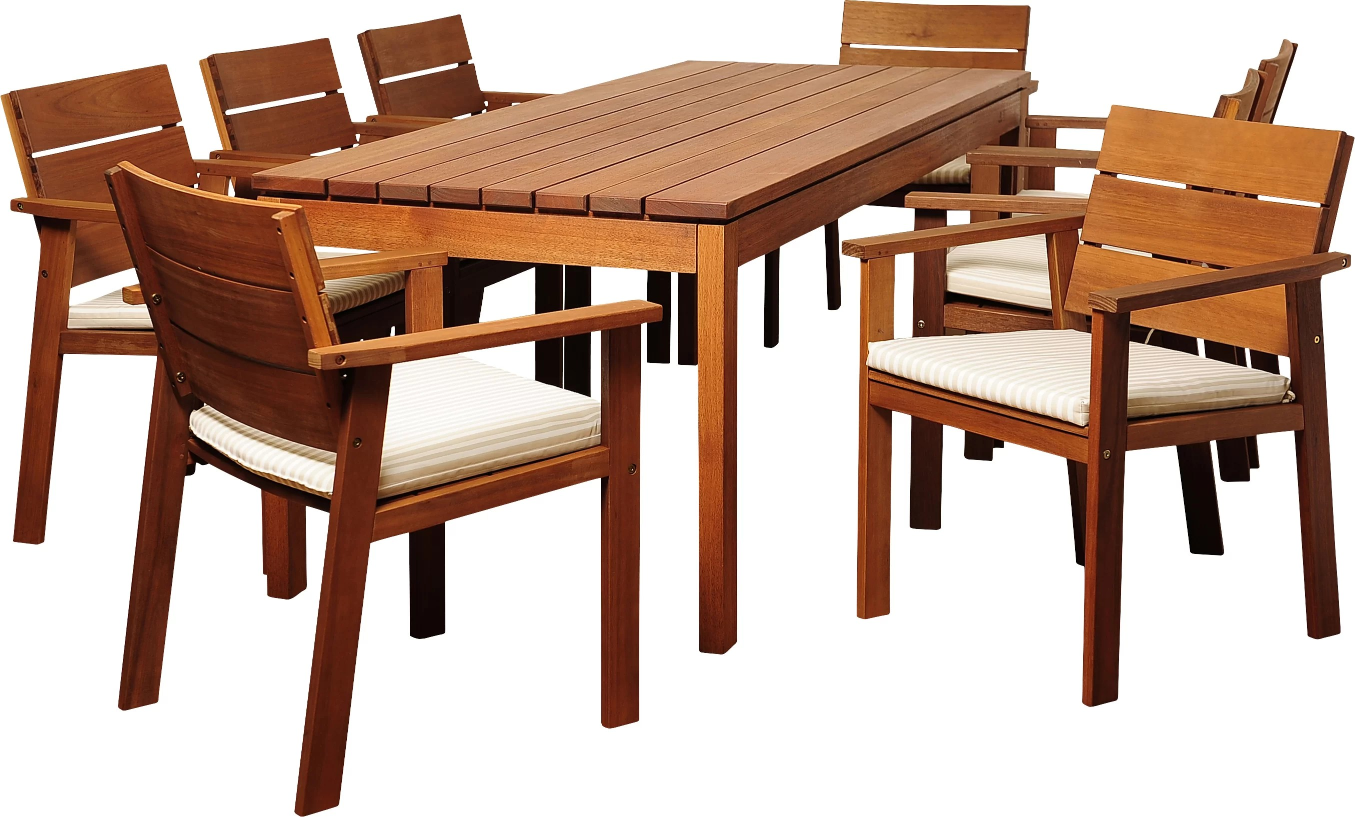 9 Piece Outdoor Dining Set Brighton 9 Piece Rectangular Wood Dining Set