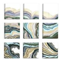 'Geode Abstract Waves' 9 Piece Canvas Wall Art Set ...