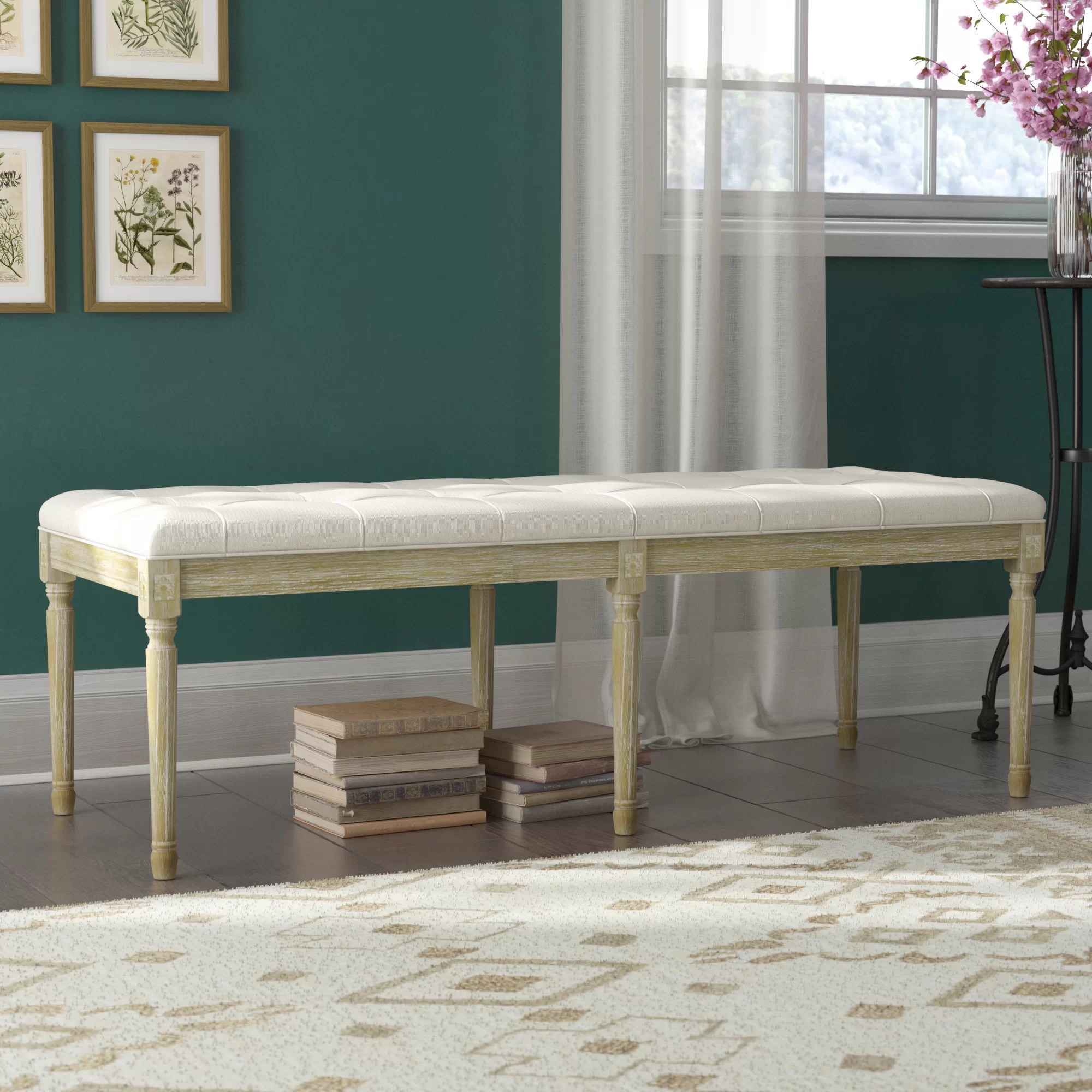 Regal Vintage French Upholstered Fabric Bench French Country Upholstered Benches You Ll Love In 2019 Wayfair
