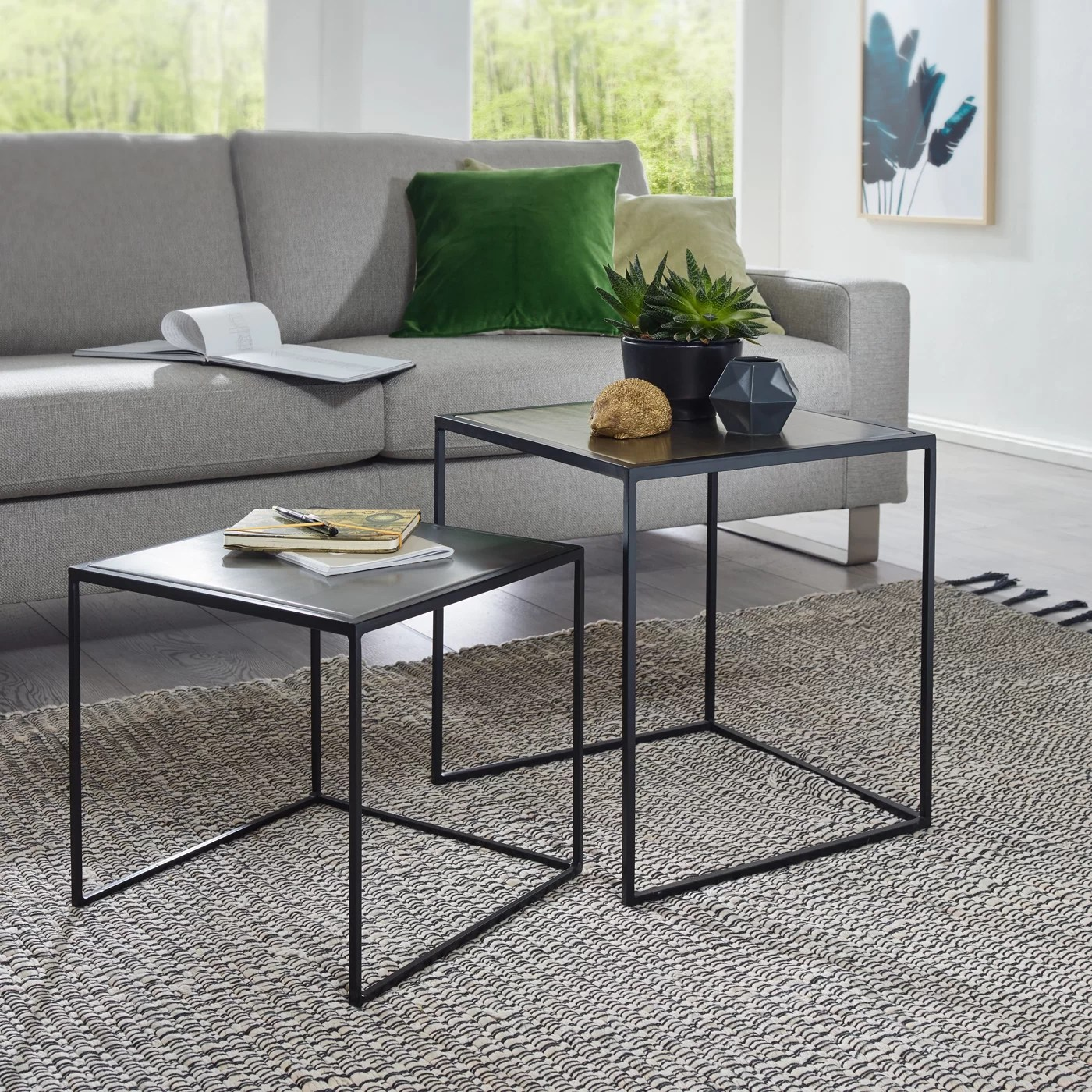 Glastisch Tempered Lightle 2 Piece Nest Of Tables