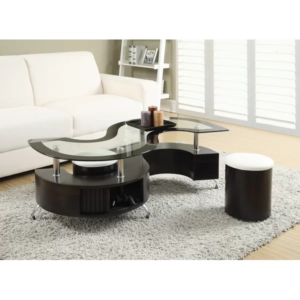 Orren Ellis Milivoje 3 Piece Coffee Table Set \ Reviews Wayfair - 3 piece living room table set