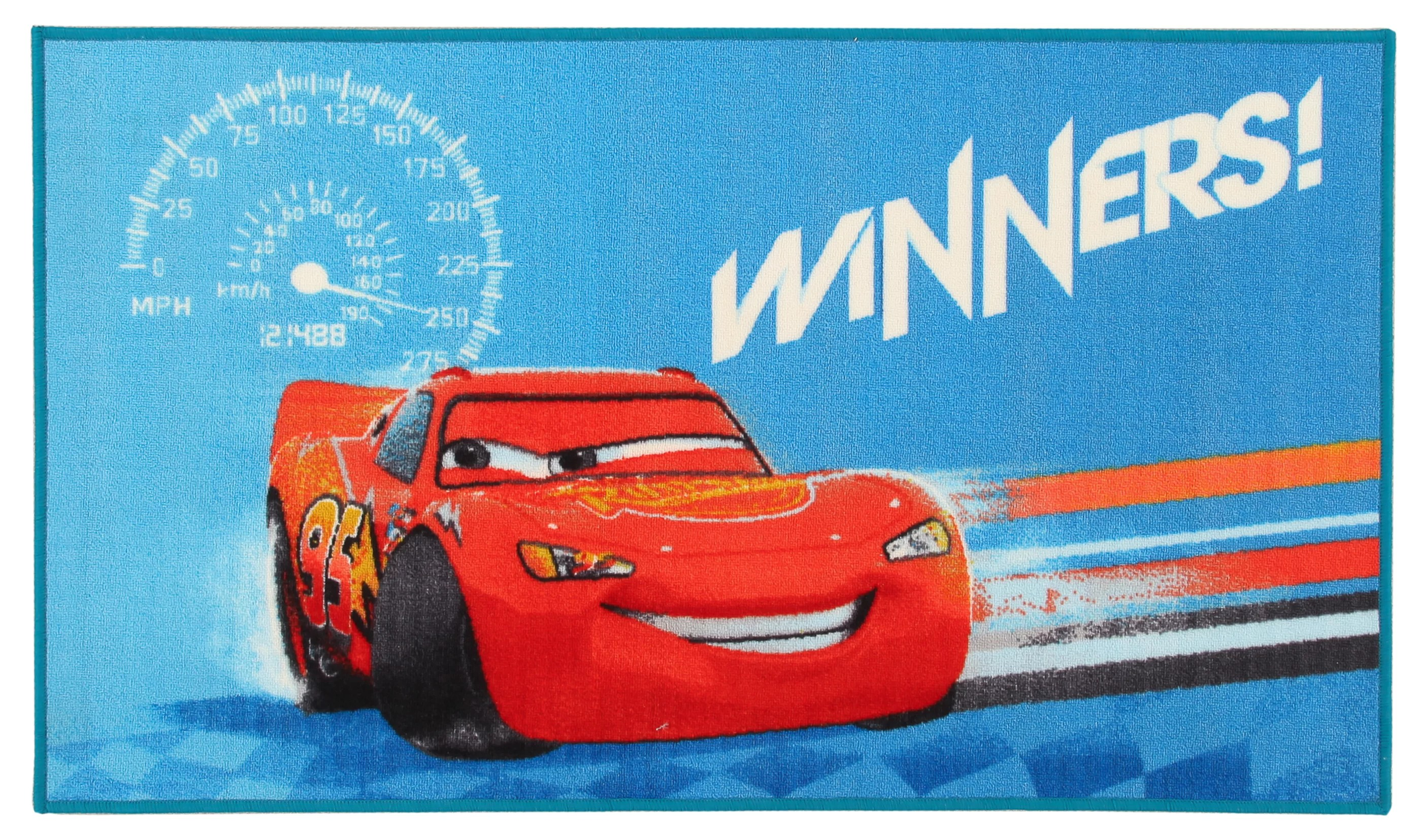 Cars Teppich Teppich Disney Cars Winners In Blau