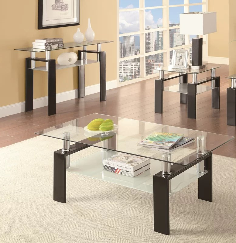 Zipcode Design Tiffany 3 Piece Coffee Table Set \ Reviews Wayfair - 3 piece living room table set
