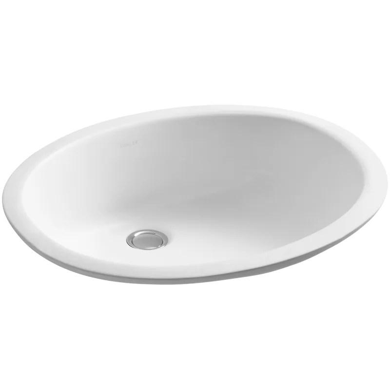 K 2210 03347 Kohler Caxton Ceramic Oval Undermount