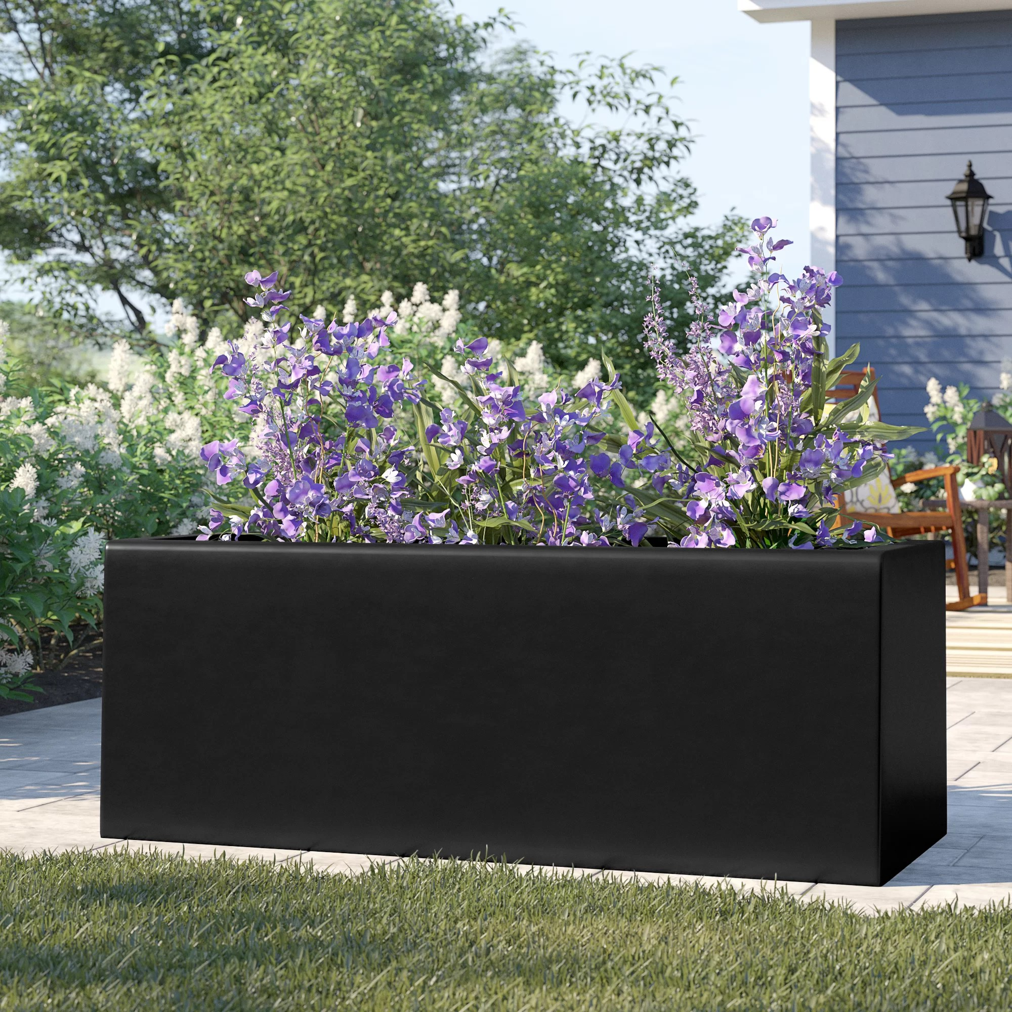 Planter For Herbs Barclay Rectangle Fiberglass Planter Box