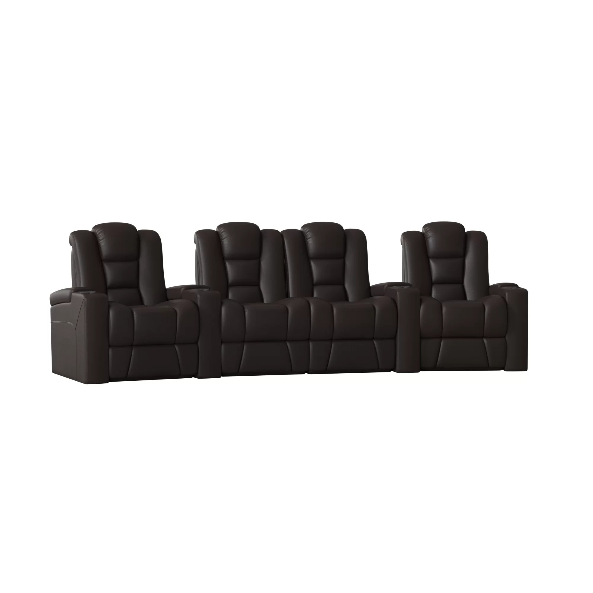 Contemporary Seating Contemporary Home Theater Row Curved Seating Row Of 4