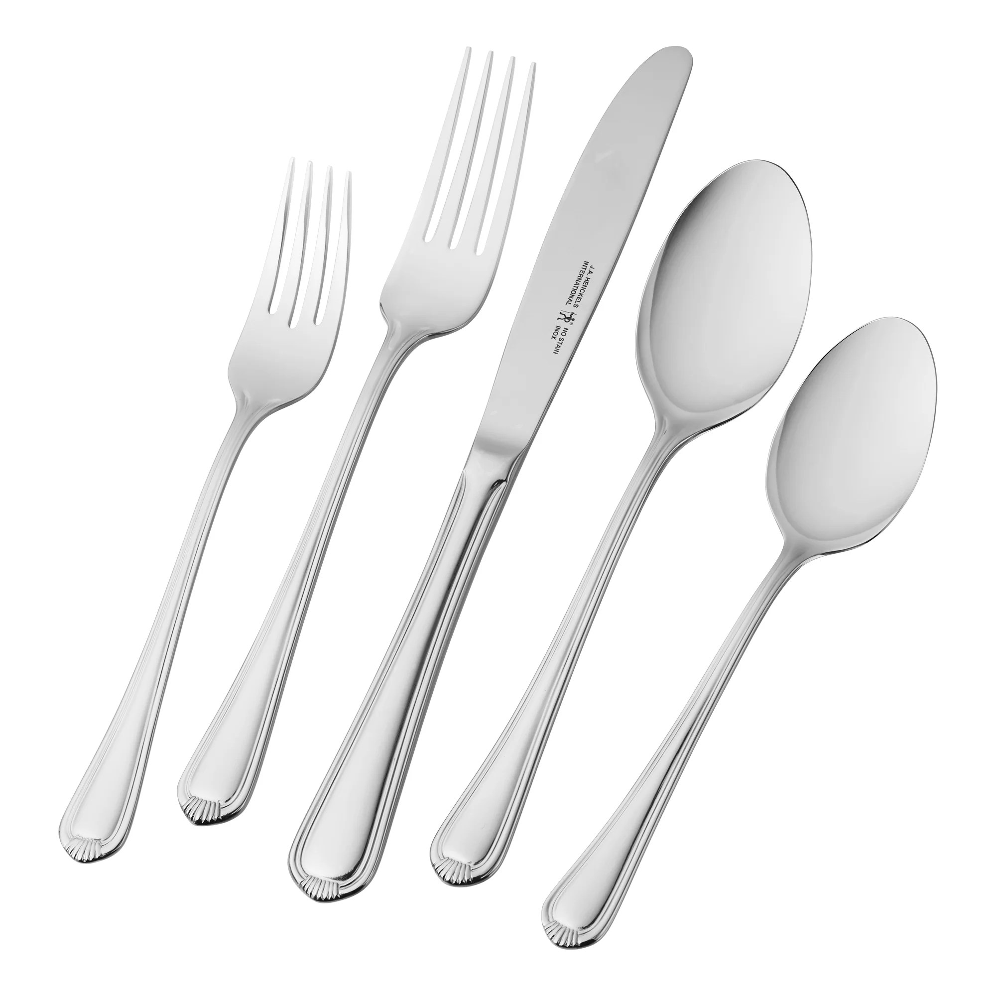 Discount Stainless Flatware Alcea 65 Piece 18 10 Stainless Steel Flatware Set Service For 12