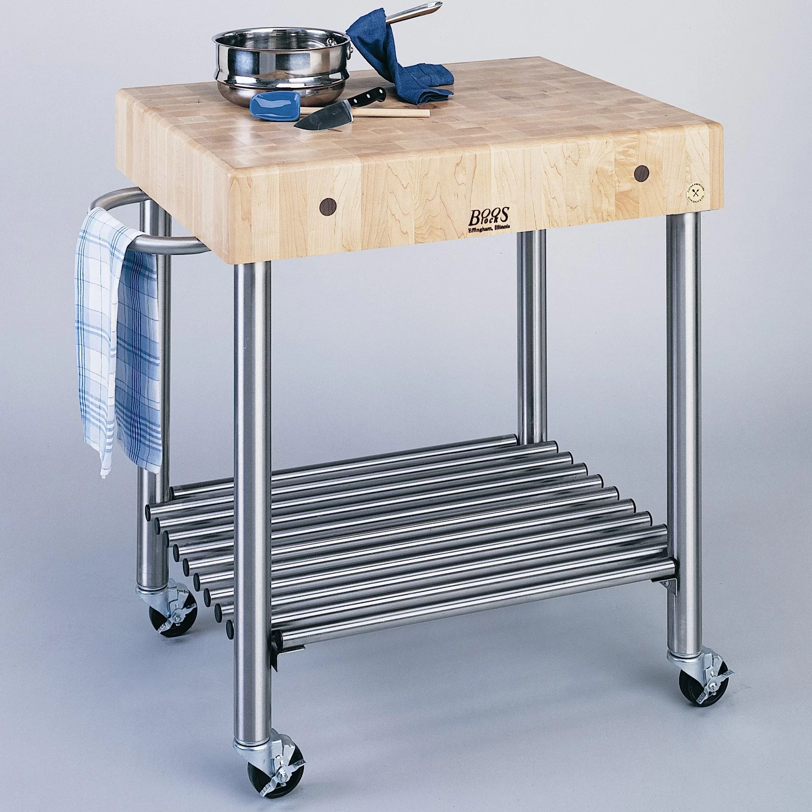 Cucina Kitchen Products Cucina Americana Kitchen Cart With Butcher Block Top