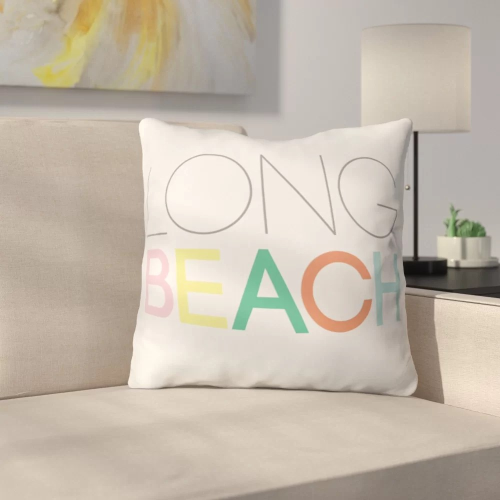 Lounge Throw Long Beach Lounge Polyester Throw Pillow