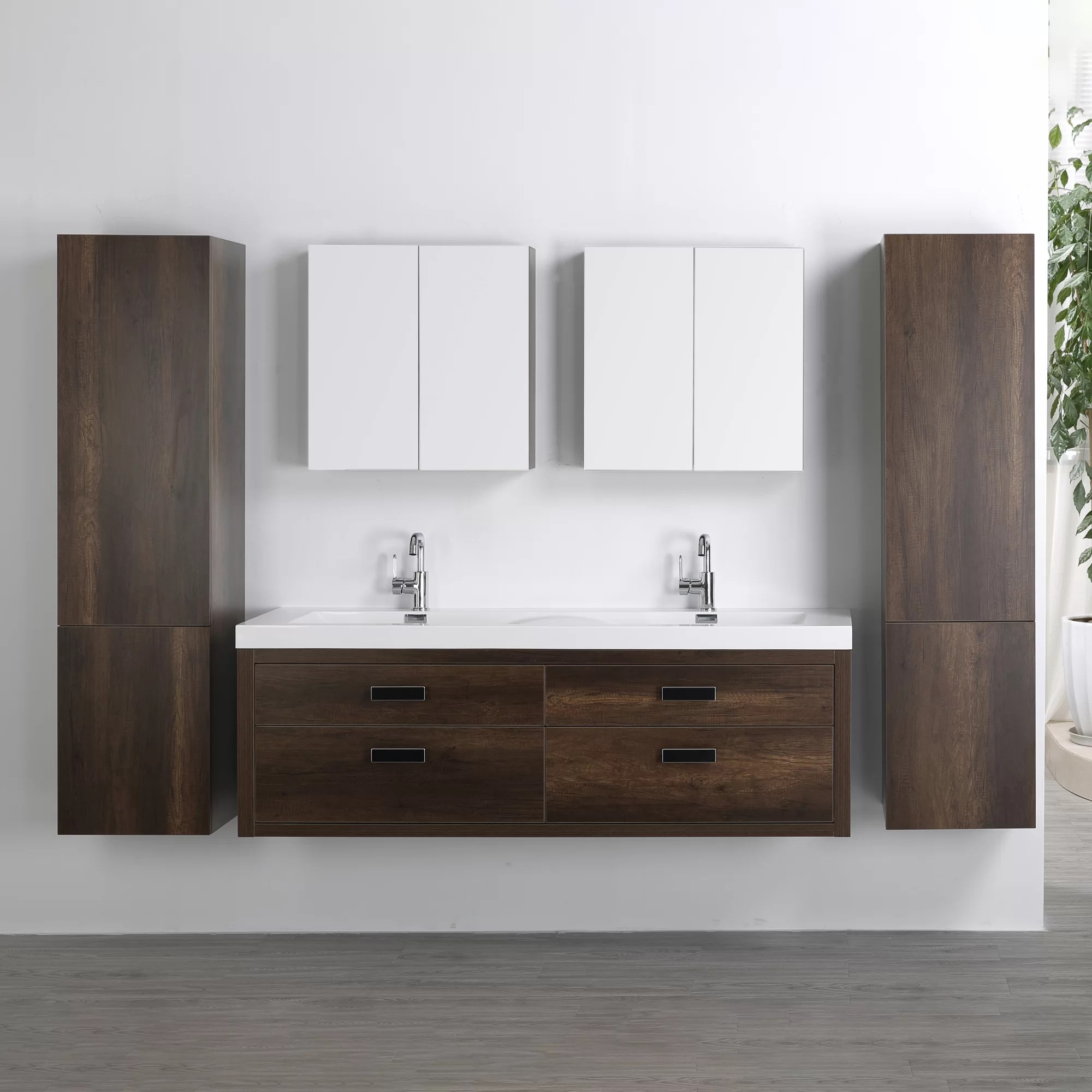 Wall Mount Double Vanity 63