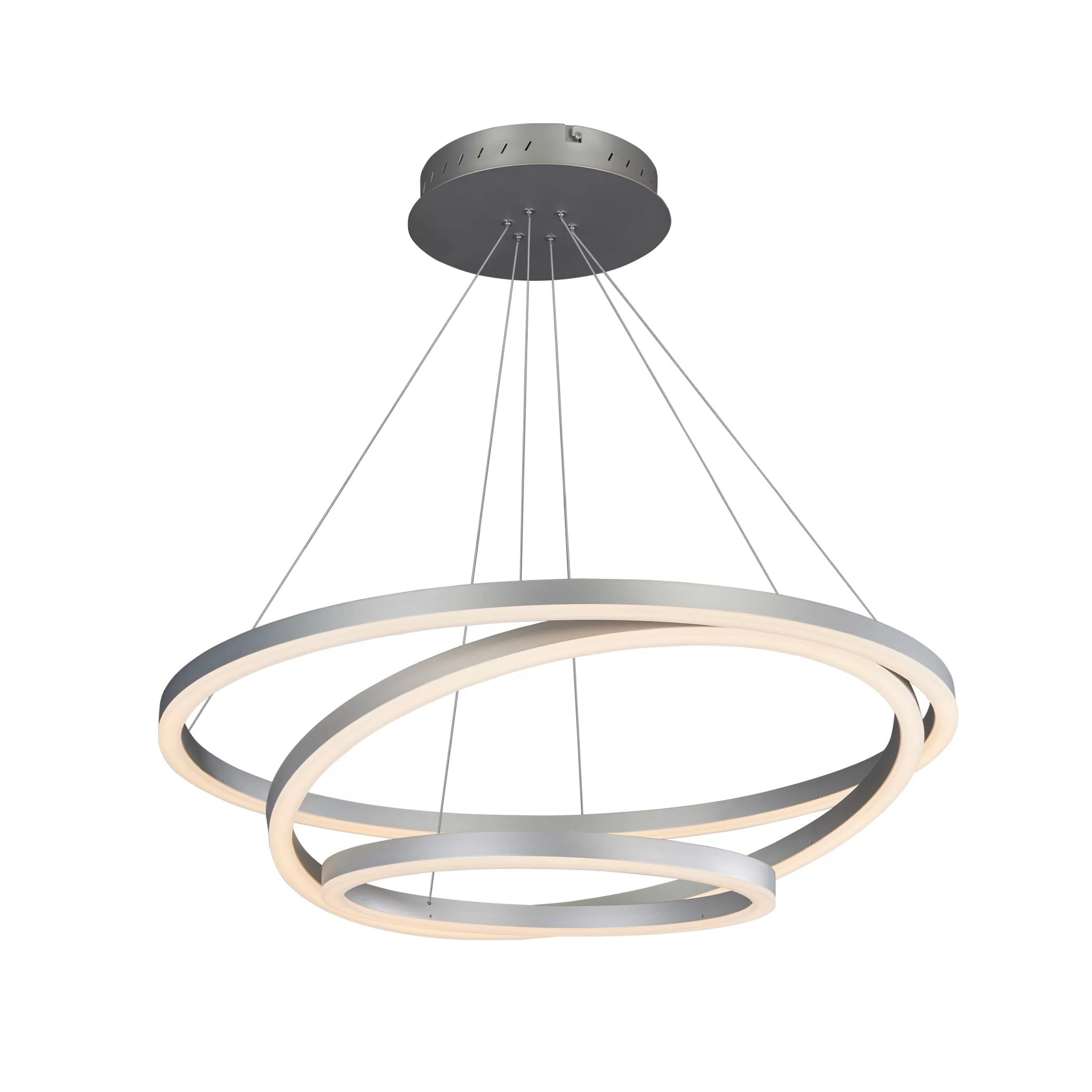 Led Chandelier Chifdale 3 Light Led Geometric Chandelier