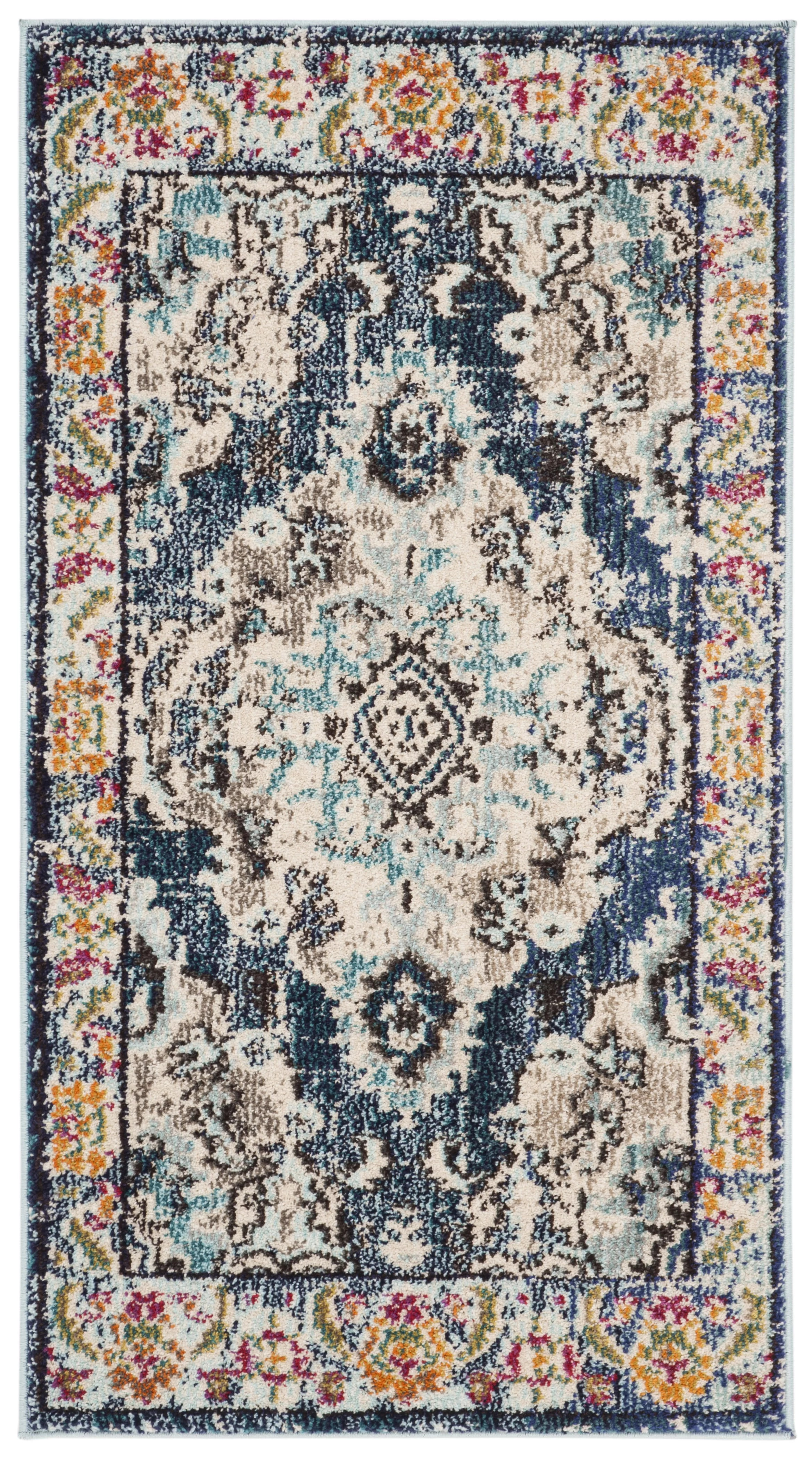 Teal Color Area Rugs Annabel Power Loom Navy Blue Area Rug Reviews Allmodern