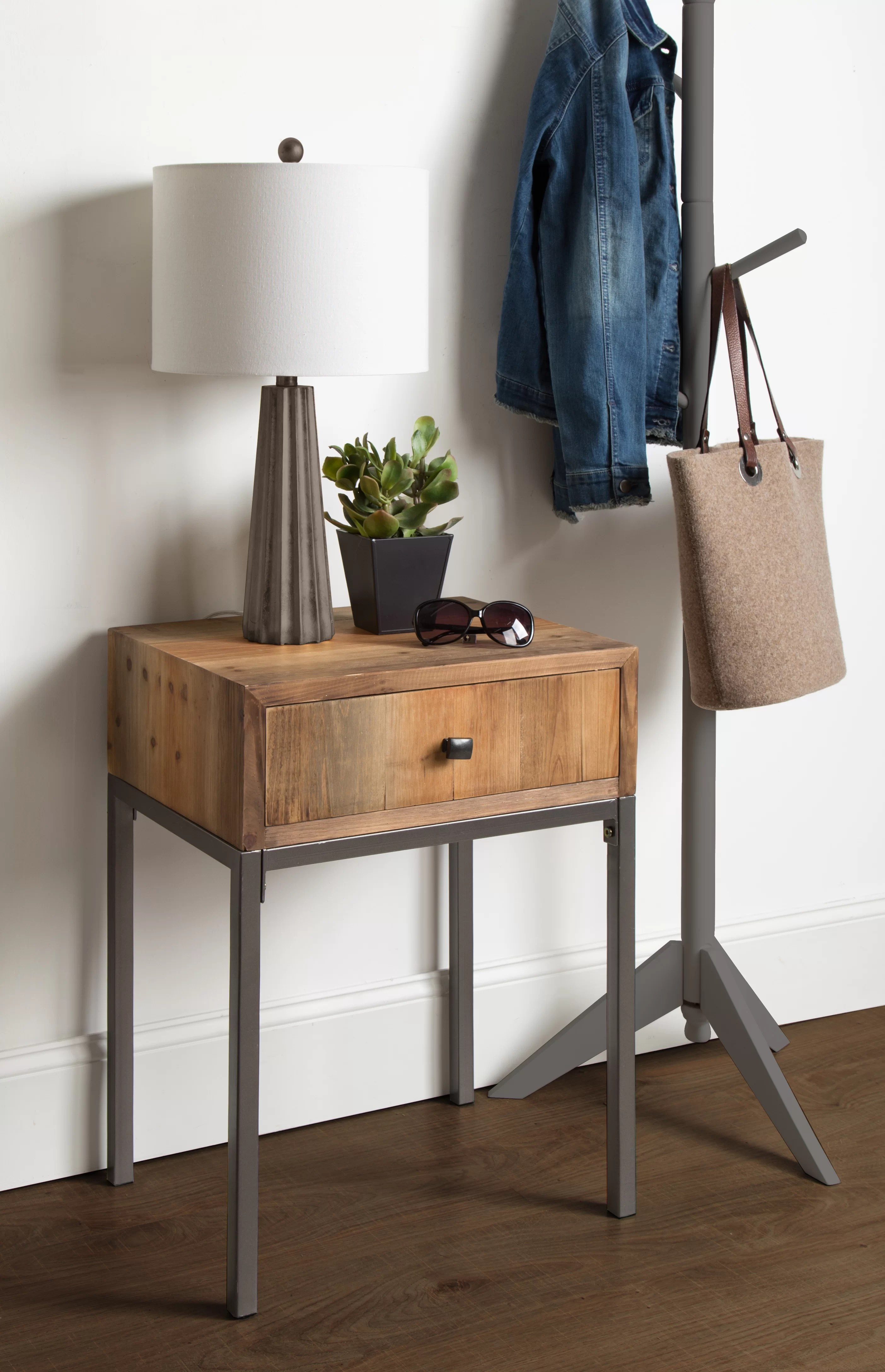 Rustic Wood End Table Pruitt Wood End Table With Storage